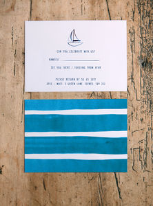 Nautical Sailing Wedding RSVP Cards - wedding stationery