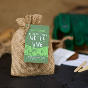 Grow Your Own White Wine Grape Mini Plant Kit - wedding favours