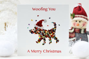 Dog Christmas Card, Merry Christmas From Your Dog Card