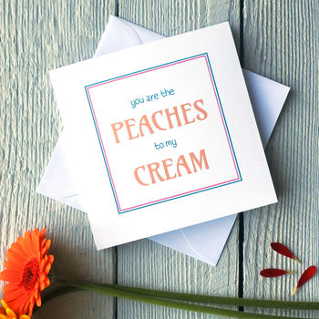 Peaches and Cream card