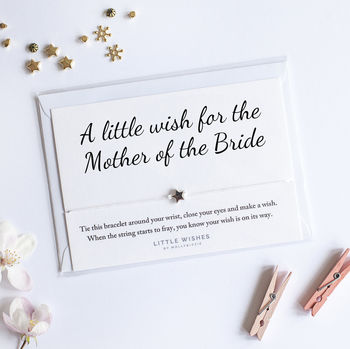 A Handmade Wish Bracelet Gift For Mother Of The Bride