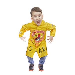 Child's Colour Changing Lion Rain Jacket In Gift Box