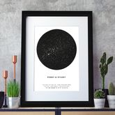 Personalised Metallic Star Map Print - prints & art