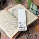 Personalised Parent And Child Reading Spot Bookmark
