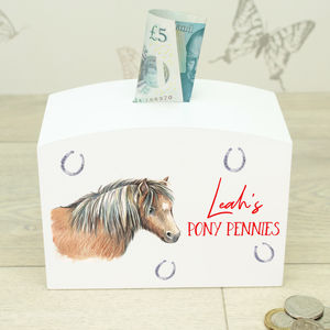 Personalised Pony Saving Money Box