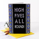 Congratulations Card 'High Fives All Round!'