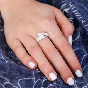Feather Sterling Silver Adjustable Ring - rings