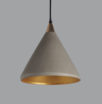 Number Three Concrete Pendant Light