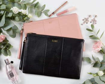Personalised Leather Clutch