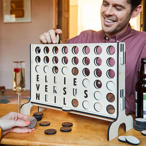 Personalised Four In A Row Game - gifts for him