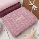 Dawn Pink Cable Blanket