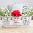 Personalised Flower Tray And Pots