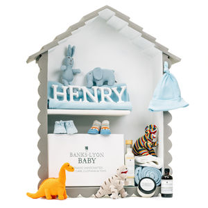 Create Your Own Handmade Baby Boy Gift Box - more
