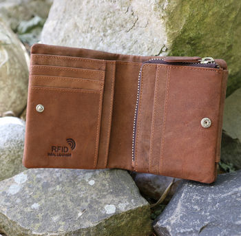 Wombat Wallet With Zipped Coin Section Rfid Safe