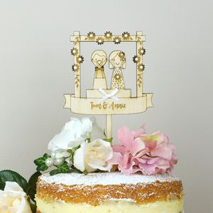Personalised Wedding Couple Cake Topper