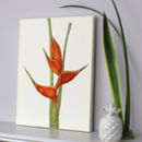 Tropical Botanical Canvas Art Print ' Heliconia '