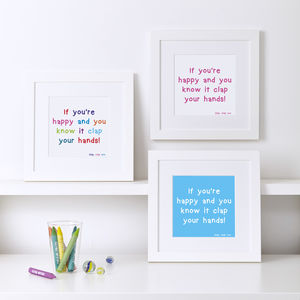 Personalised Quote And Word Prints For Children - family & home