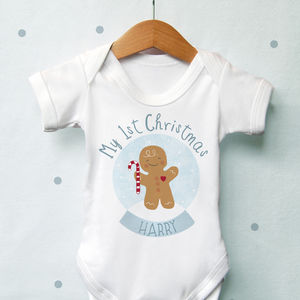 Personalised 1st Christmas Gingerbread Globe Vest
