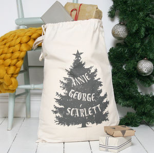 Personalised Family Christmas Sack - a thoughtful family christmas