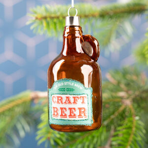 Glass Craft Beer Bottle Bauble