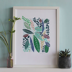 Botanical Print Leaf Design - modern graphic art