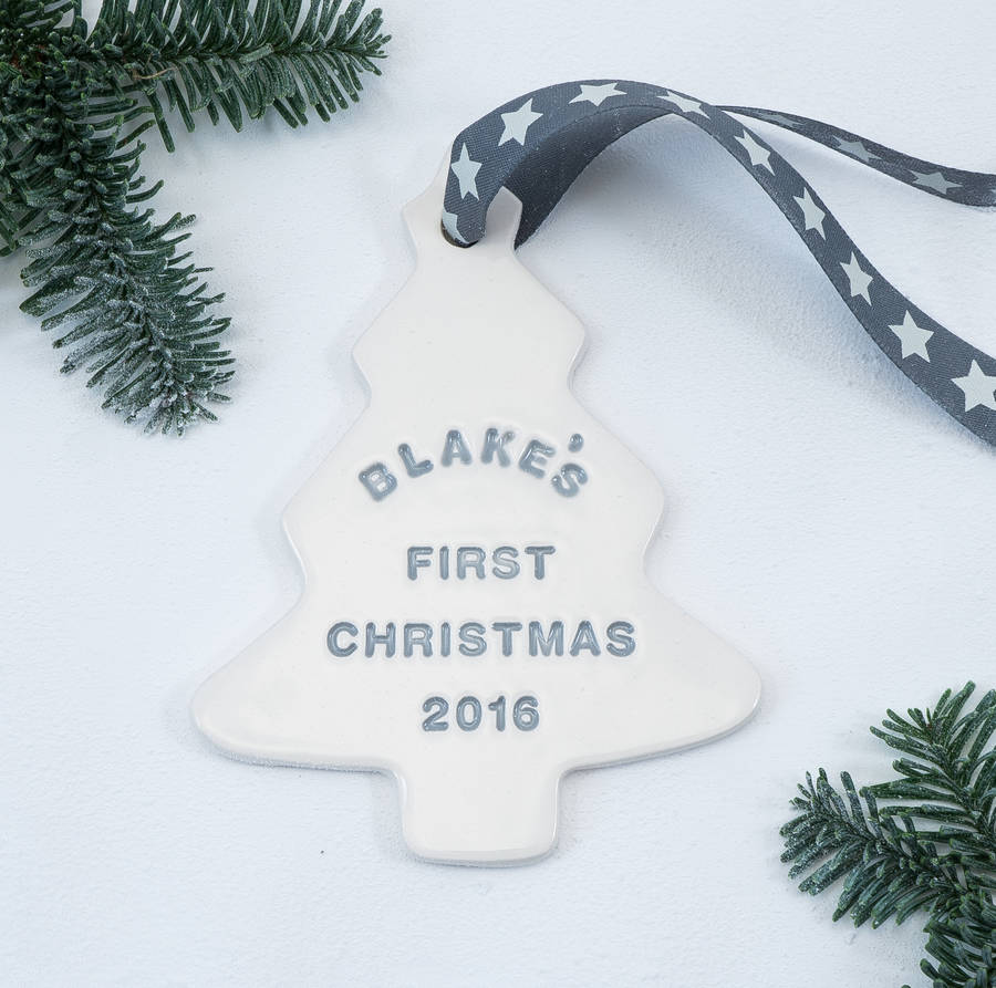 babys first christmas decoration - Ceramic Christmas Decorations