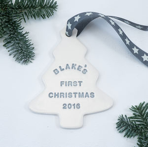 Baby's First Christmas Tree Decoration - keepsakes