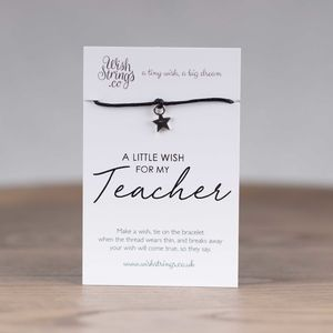 Little Wish 'Teacher' Star Wish Bracelet