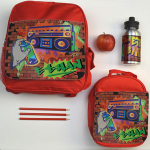 Personalised Back To School Set Graffiti
