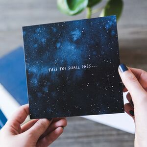 'This Too Shall Pass' Sympathy Card
