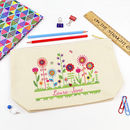 Personalised Flowers Pencil Case