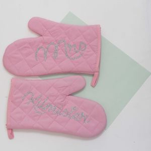 Personalised 'Mrs' Oven Gloves - oven gloves & mitts