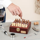 Personalised Wine Accessories Chess Set Gift For Him