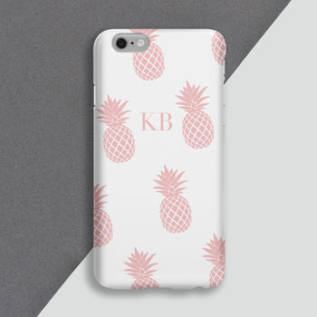 Personalised Pink Pineapple Phone Case