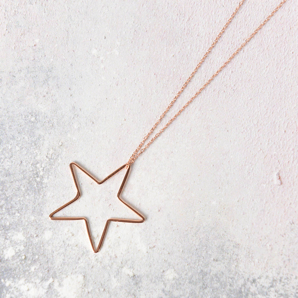 North Star Rose Gold Necklace
