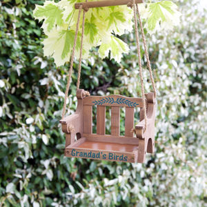 Personalised Swinging Bird Table