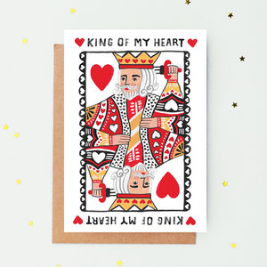 King Of My Heart Valentine's Day Card - whatsnew