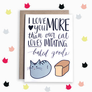 Funny Cat Anniversary Card
