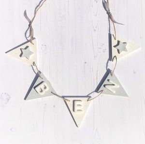 Personalised Wooden Name Bunting With Stars