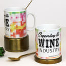 Gin, Prosecco And Wine Pixel Pattern Mugs