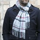 Merino Lambswool Variegated Windowpane Scarves