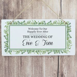 Botanical Wedding Sign, Personalised - decoration