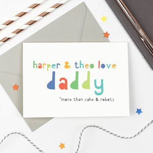 Personalised Siblings Father's Day Card