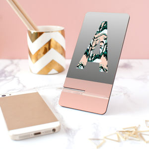 Personalised Monogram Phone Stand - tech accessories for her