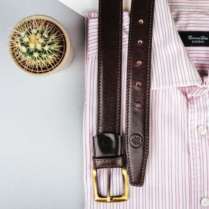 Personalised Groomsmen's Leather Belt. 'The Gianni' - new in fashion