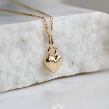 14ct Solid Gold Tiny Heart Charm Necklace
