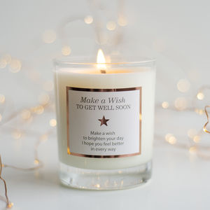 'Make A Wish To Get Well Soon' Candle - candles & home fragrance