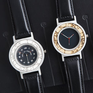 Nuclei Series Handmade Watch With Leather Strap - men's accessories