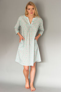 Kaftan Florence Nightdress In Green Vine - lingerie & nightwear