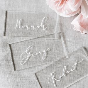 Clear Acrylic Place Cards
